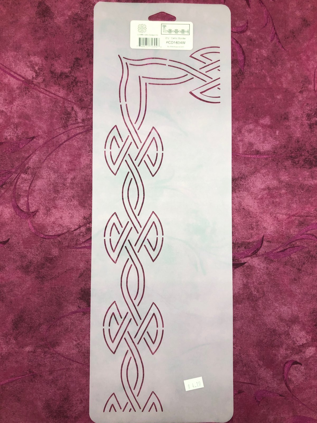 CD1604W Celtic Border 2 1/2 Inch Stencil