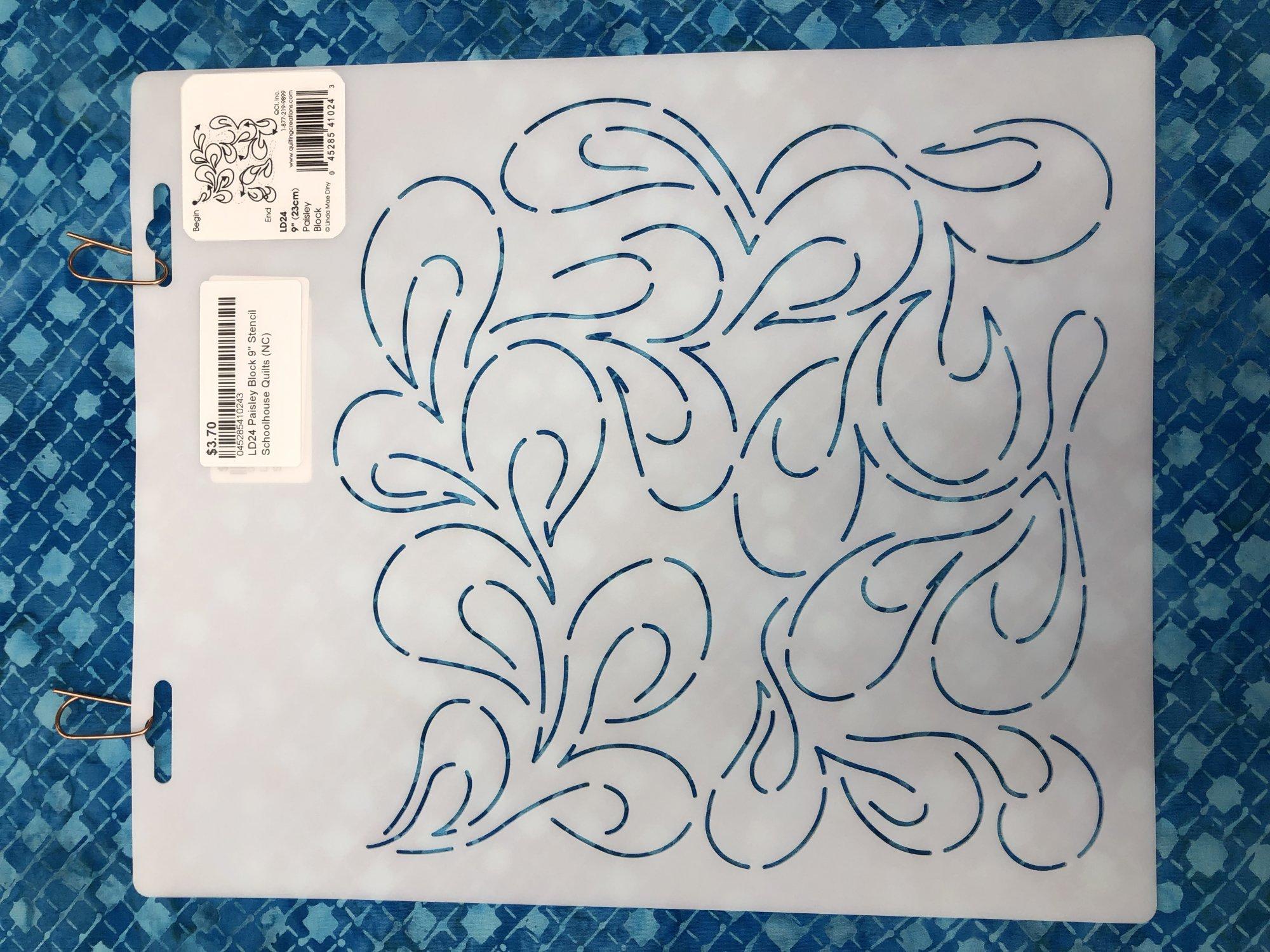LD24 Paisley Block 9 Stencil
