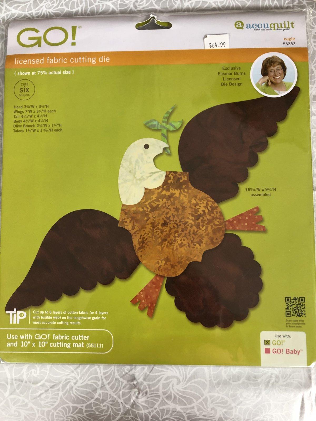 Accuquilt Go! Eagle 55383 Fabric Cutting Die