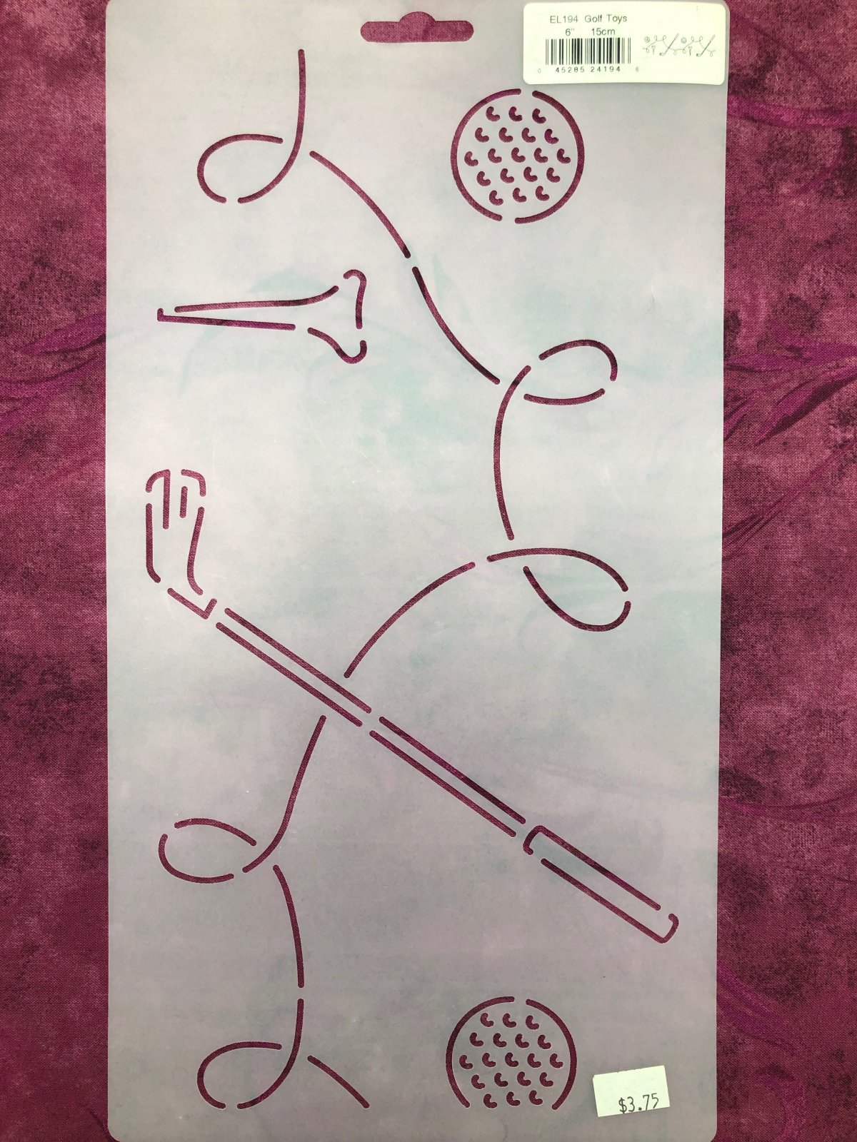 EL194 Golf Toys 6 Inch Stencil