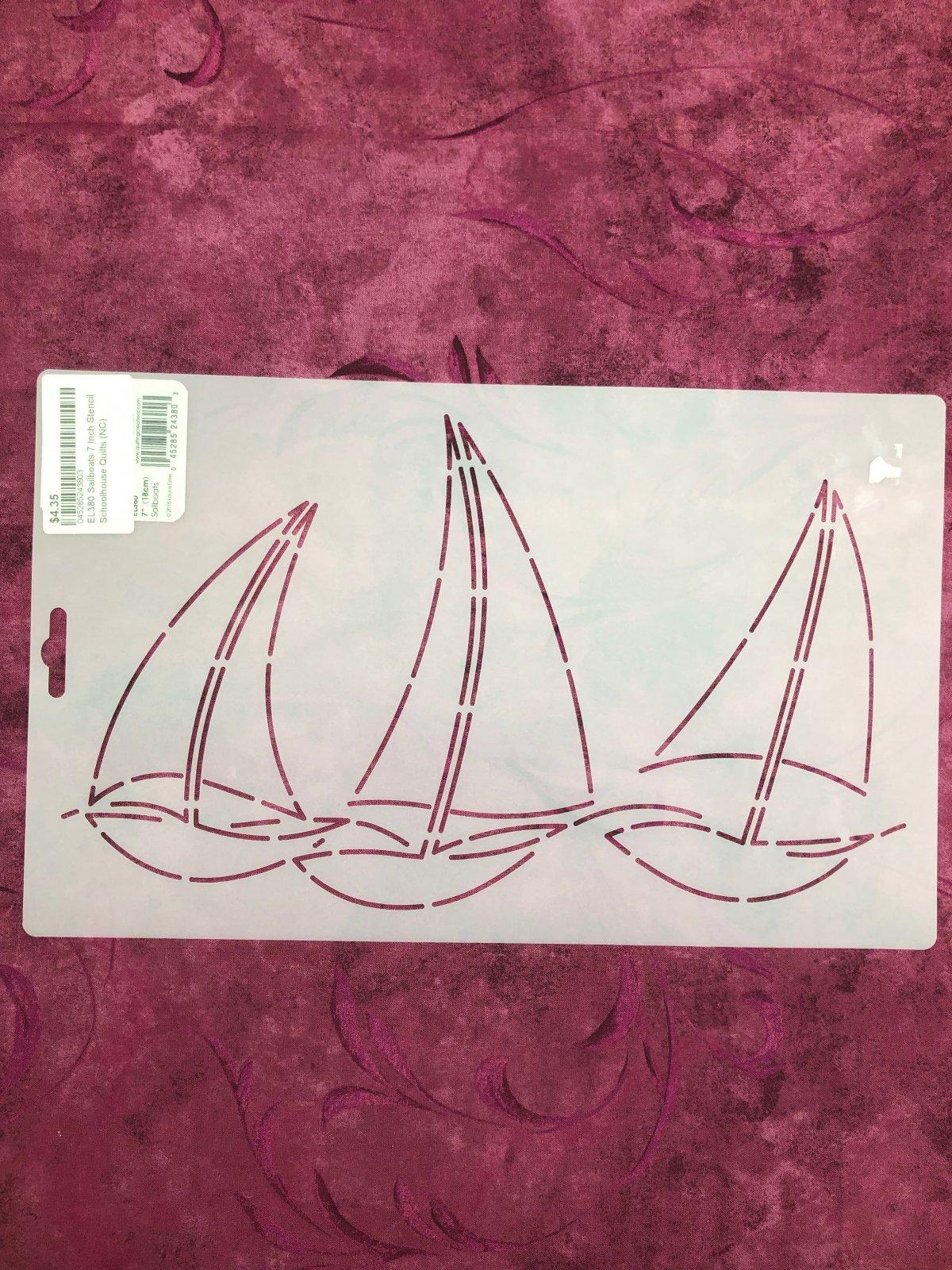 EL380 Sailboats 7 Inch Stencil