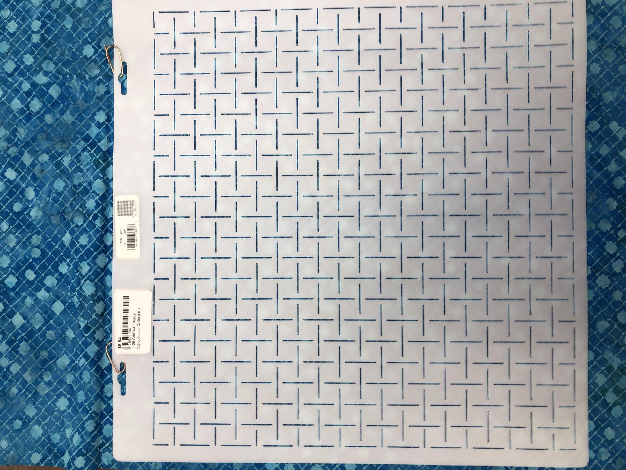 1126 Grid 3/4  Stencil