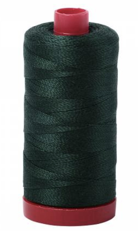 Aurifil #4026 Forest Green Cotton Thread Solid 12wt