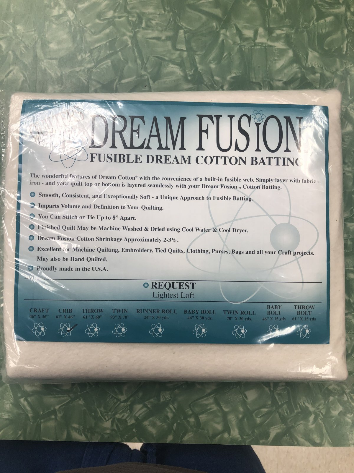 Dream Fusion 80/20 Request Crib with Fusible Webbing