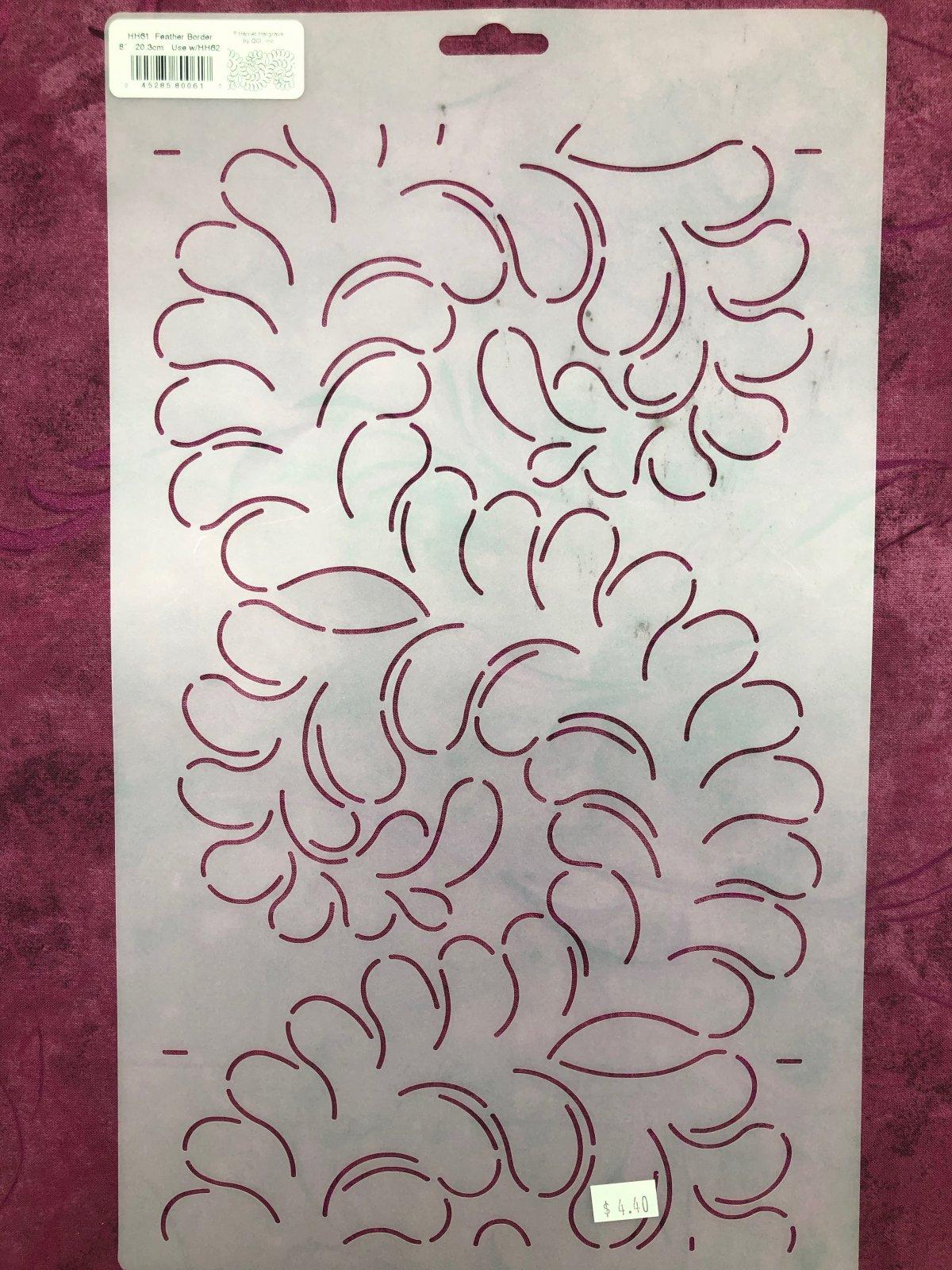 HH61 Feather Border 8 Inch Stencil
