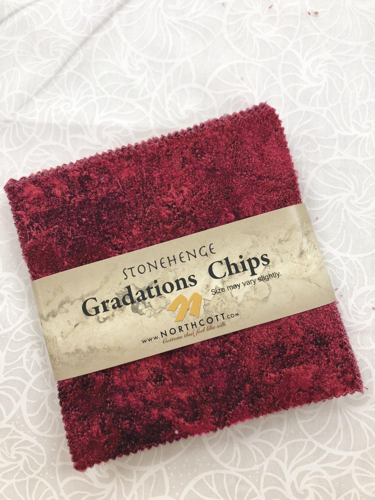 Stonehenge Hibiscus Chips 42 pcs 5 Square