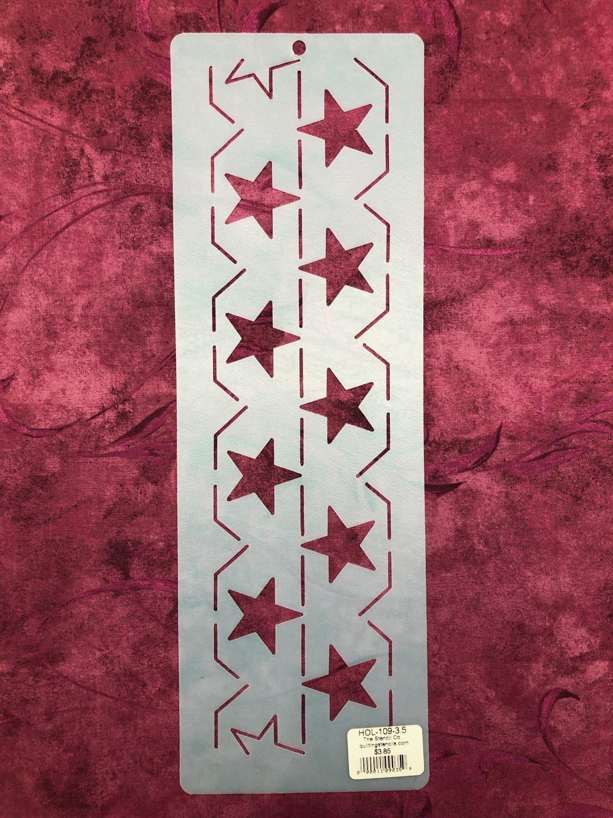 HOL-109-3.5 Star Bdr. 3 1/2 Inch Stencil