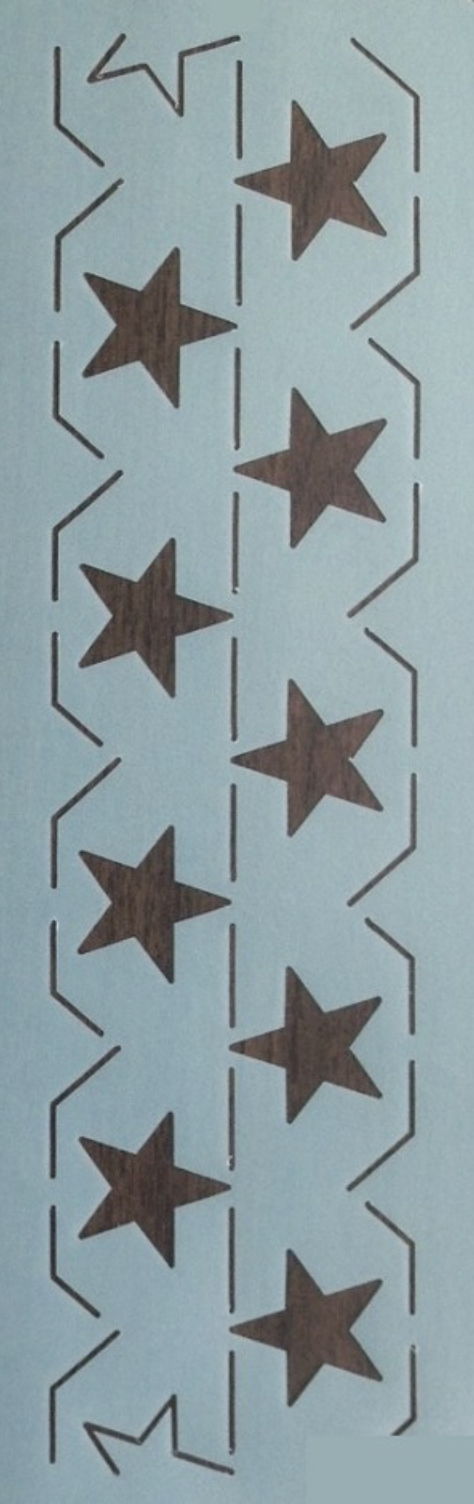 HOL-109-3.5 Continuous Star Border 3.5''  Stencil