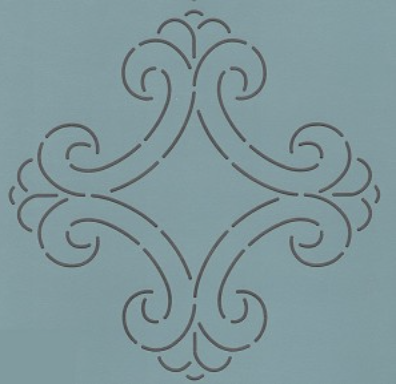 HOL-317-11 Queen Charlotte Block #1- 11''  Stencil