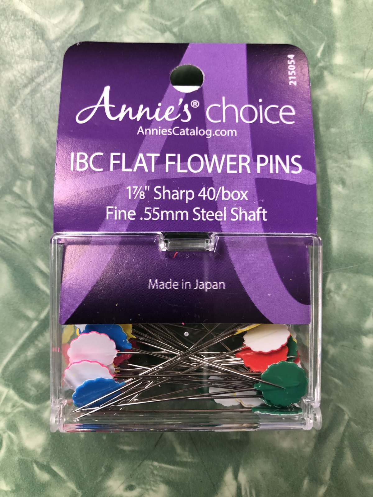 IBC Flower Head Plastic Flat Pin Size 30 - 1 7/8in 40 count