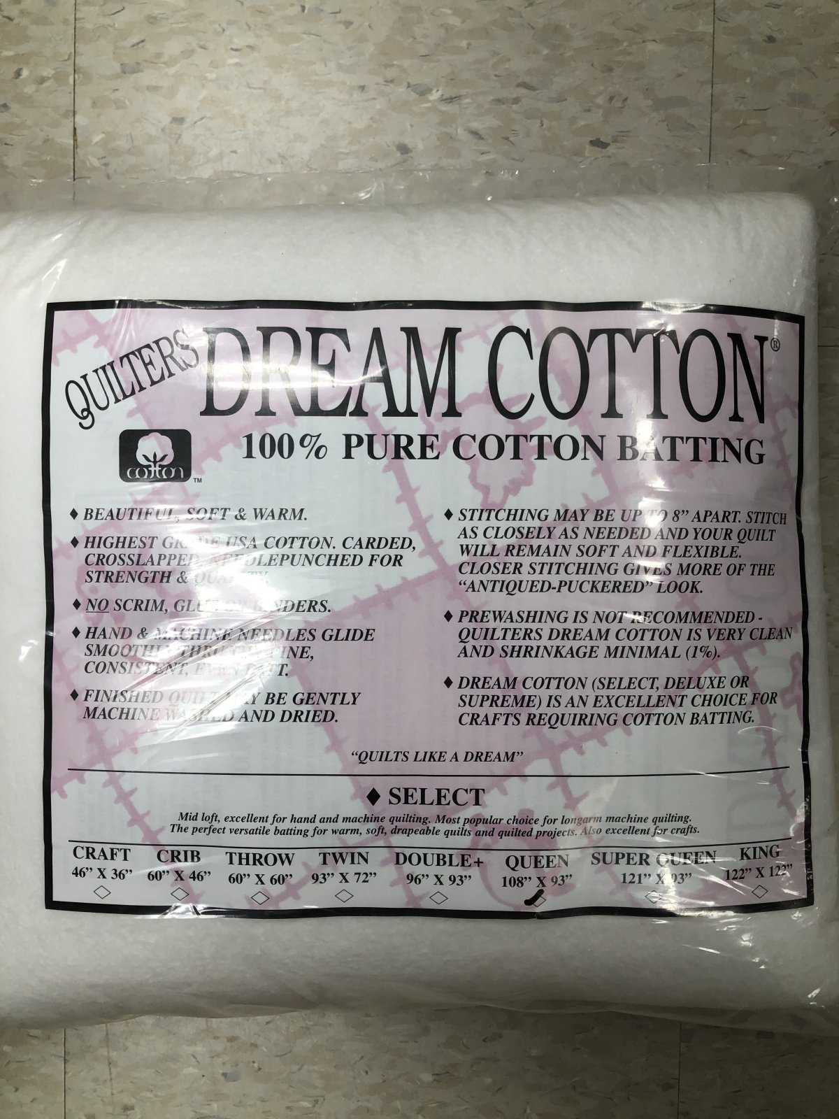 White Dream Cotton Select Queen Midloft