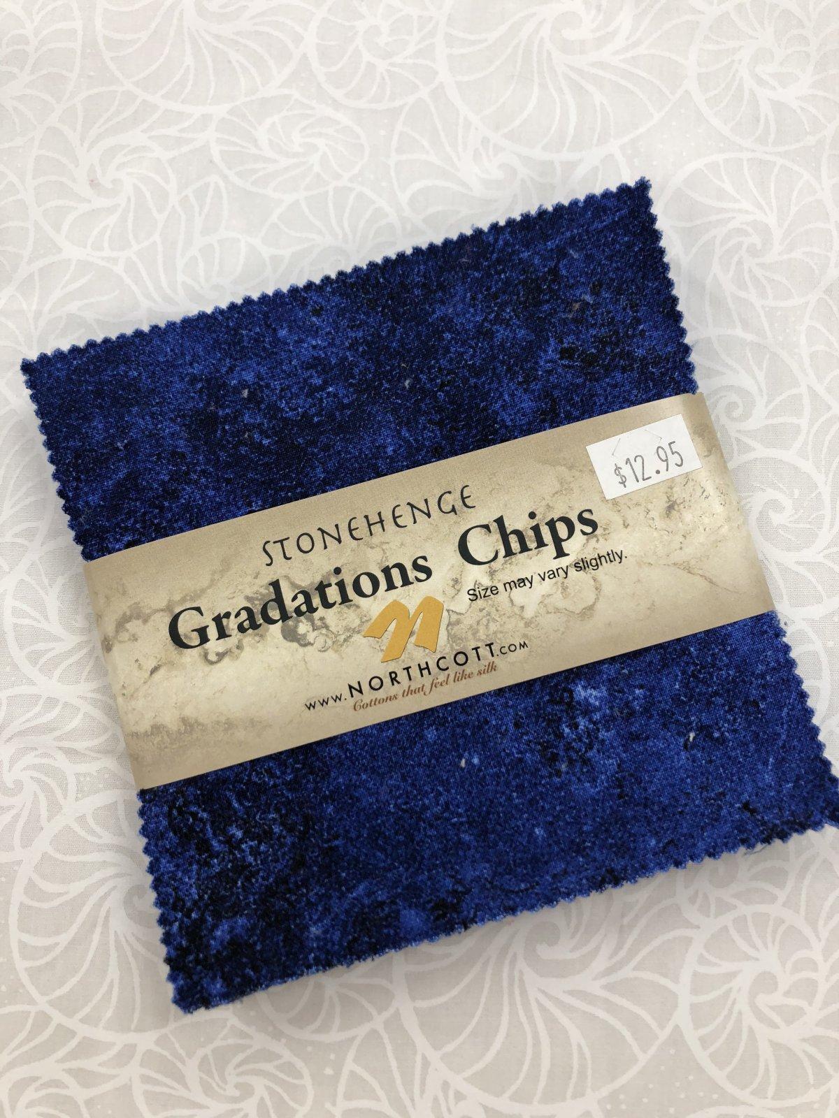 Stonehenge Indigo Graduation Chips 42 5in sq.