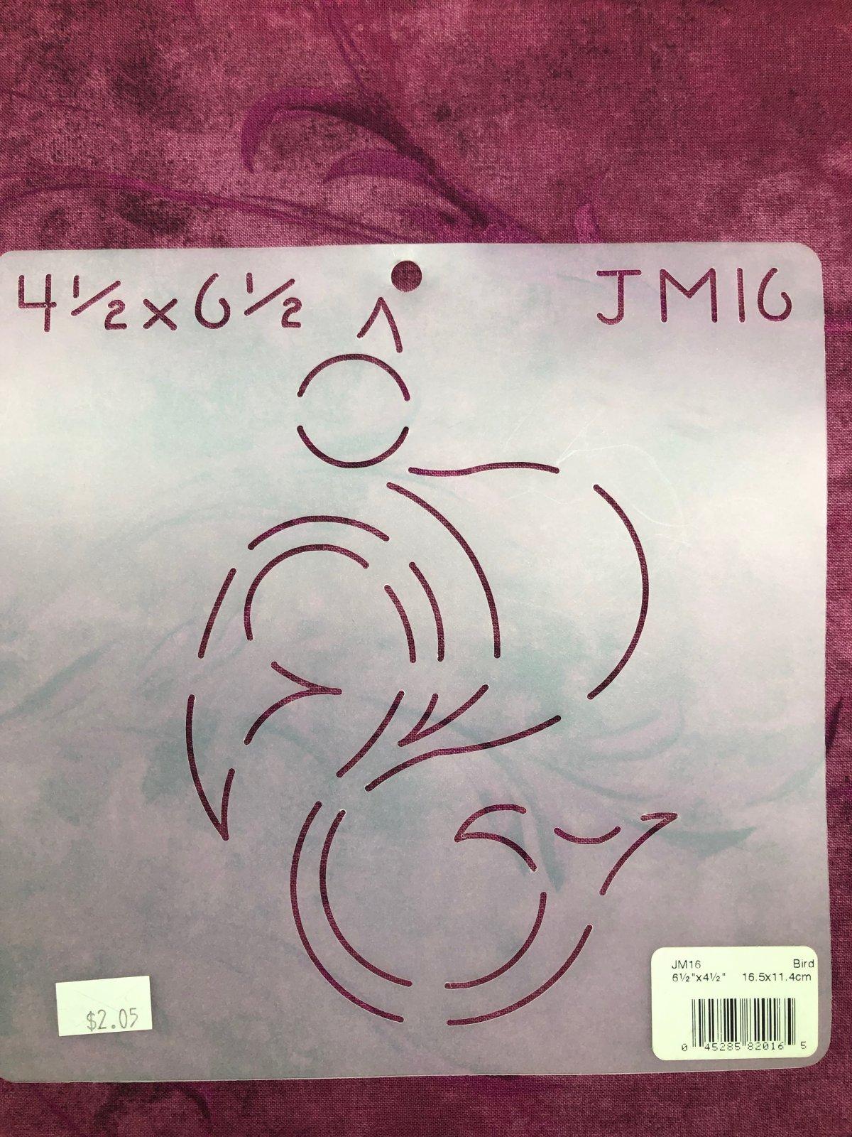 JM16 Bird 6 1/2 x 4 1/2 Inch Stencil