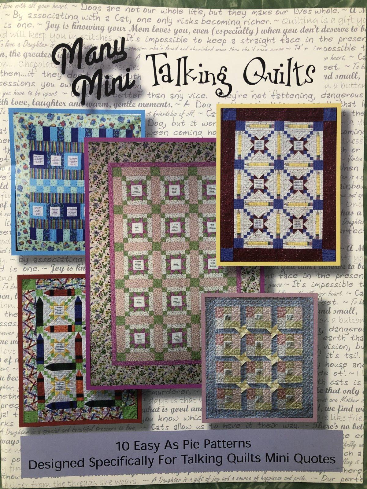 Many Mini Talking Quilts