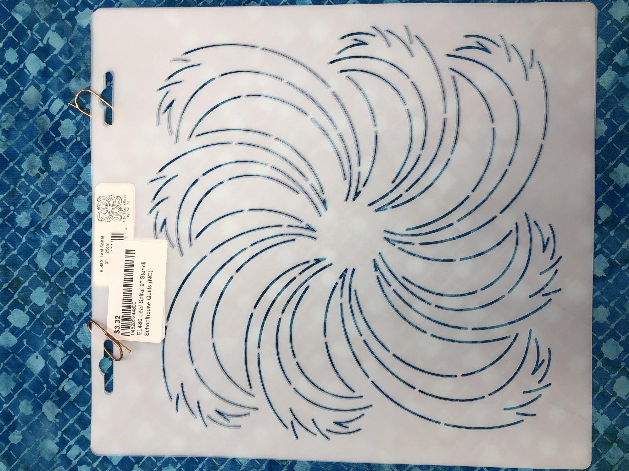 EL480 Leaf Spiral 9 Stencil
