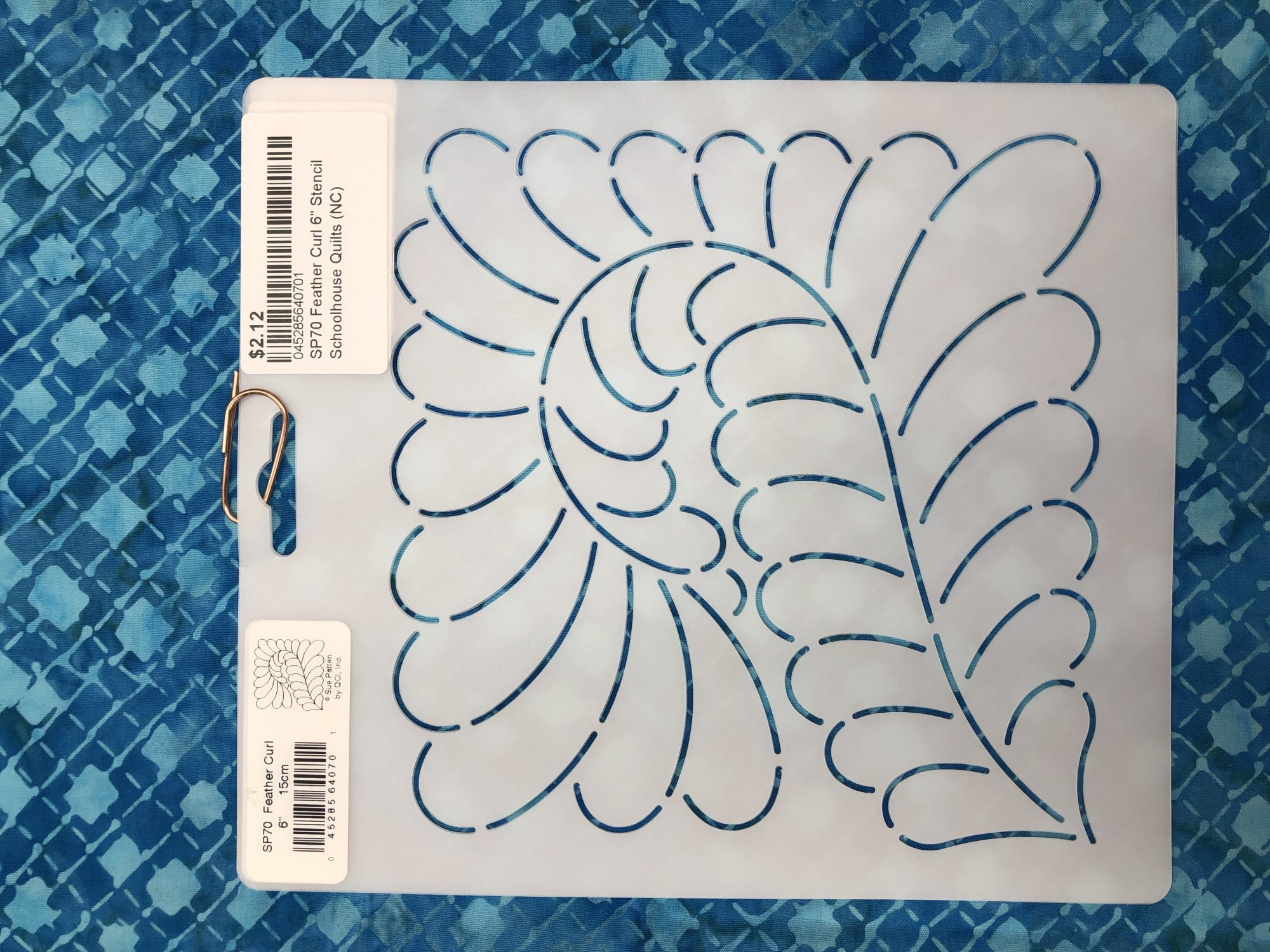 SP70 Feather Curl 6 Stencil