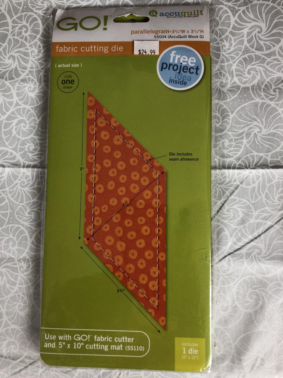 Accuquilt Go! Parallelogram 55004 Fabric Cutting Die