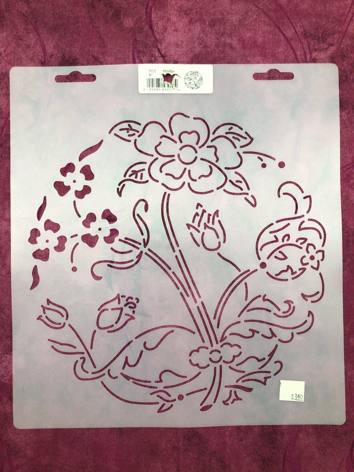 PC7 Mayfair 9 Inch Stencil