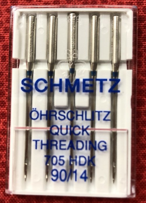 Schmetz Size 90/14 Self/Quick Threading Needle 5PK