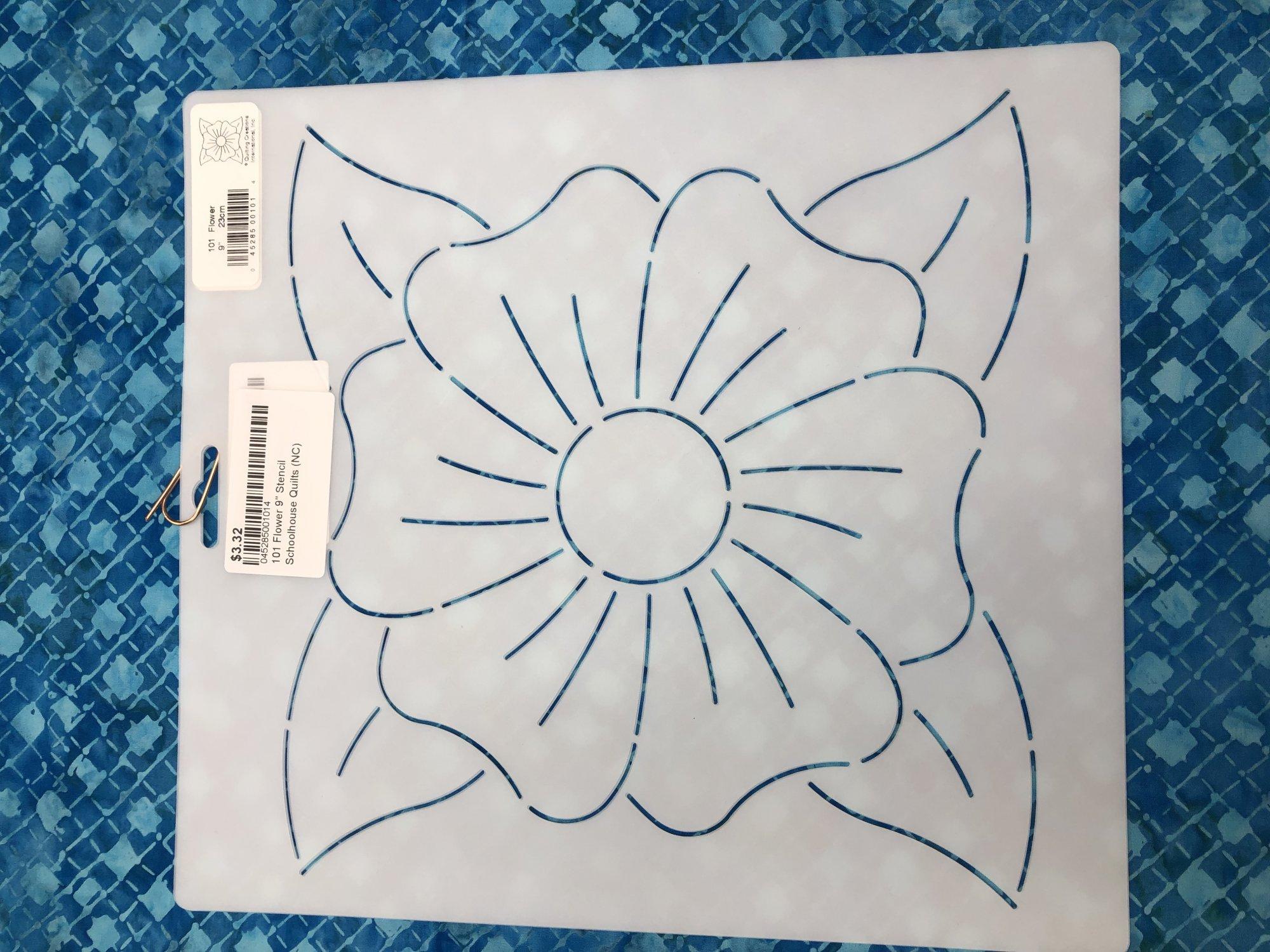 101 Flower 9 Stencil