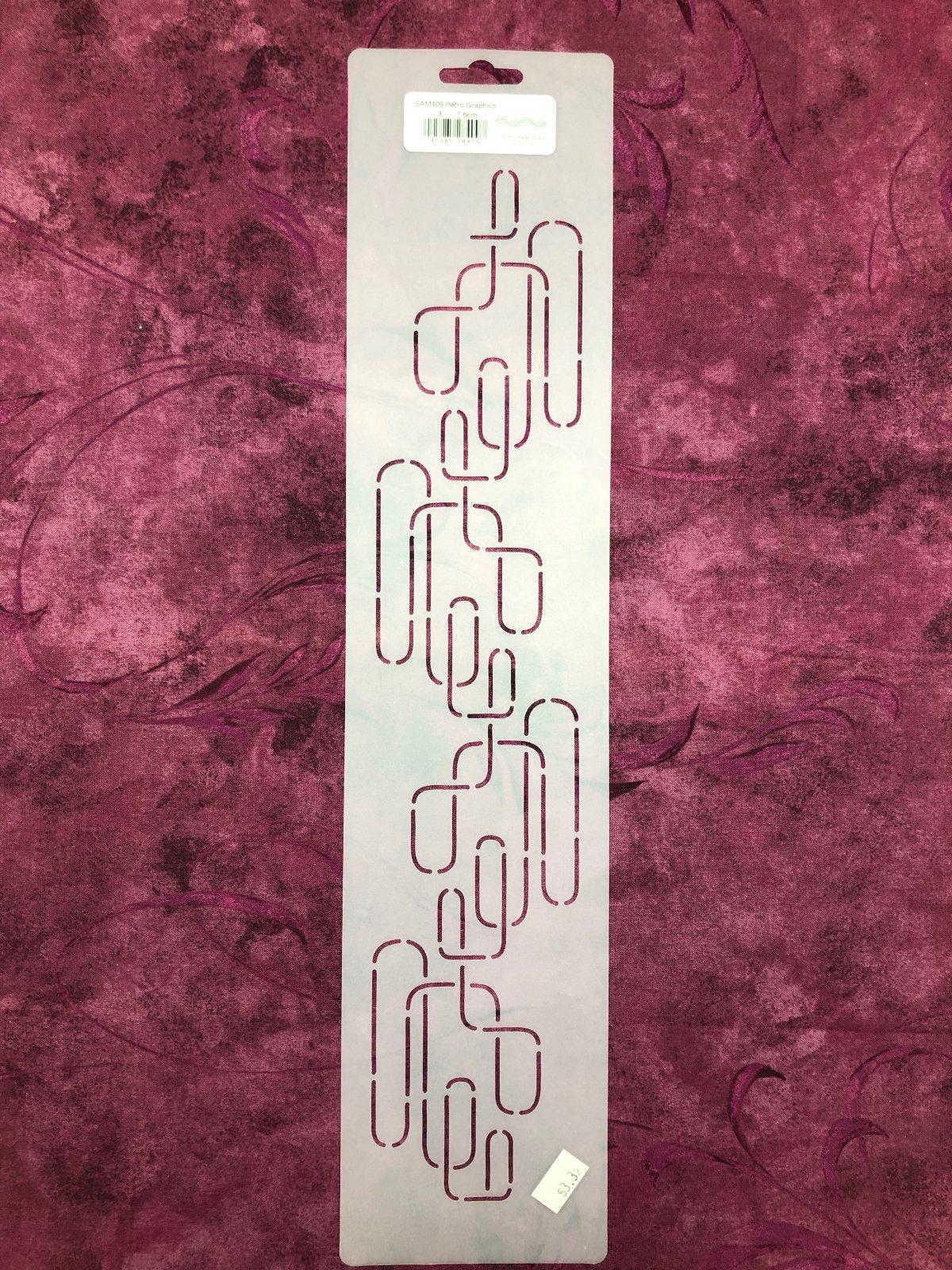 SAM409 Retro Graphics 3 Inch Stencil