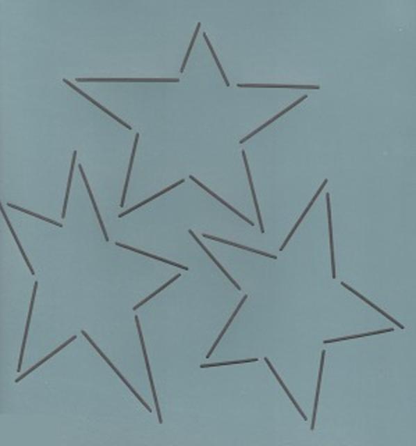 SCL-273-08 Three Stars 8'' Stencil