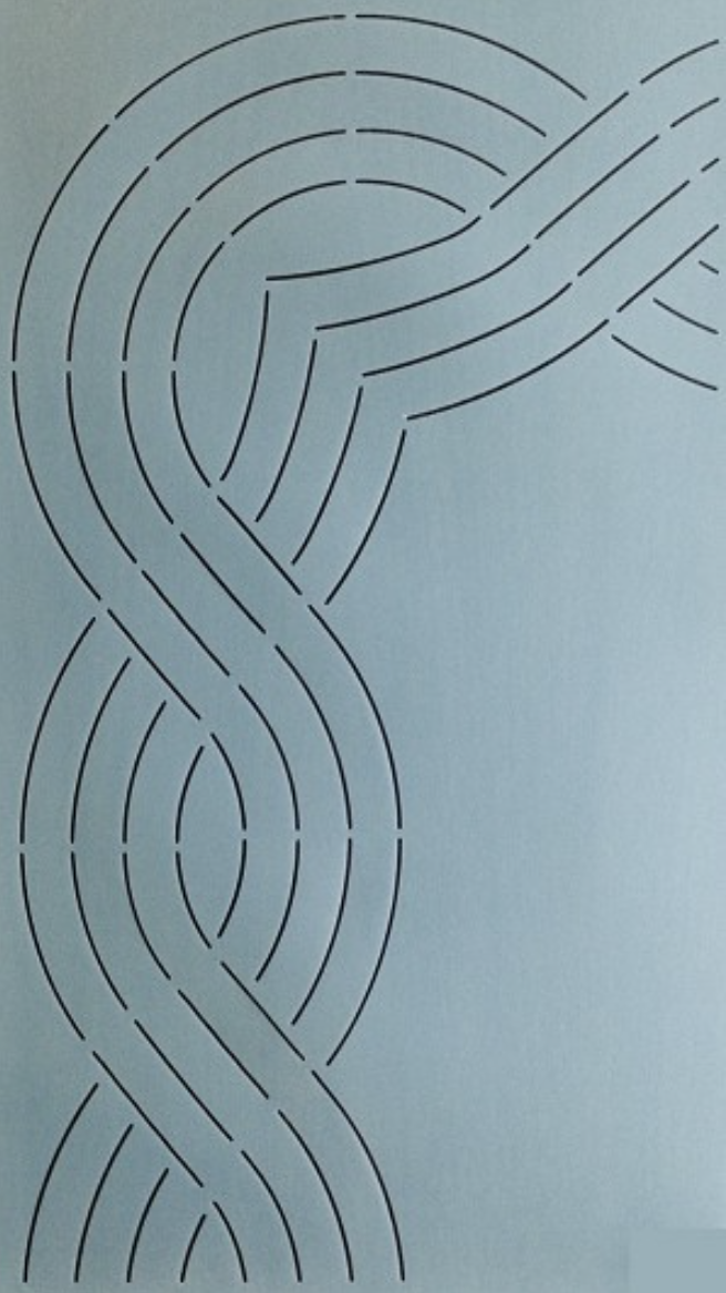 SCO-181-06 Triple Cable Border 6'' Stencil