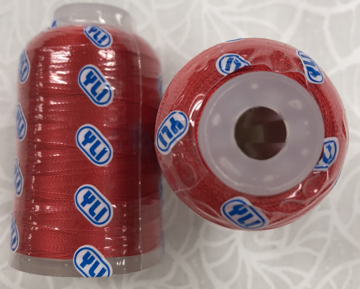 YLI Ultra Sheen #03 Red Acrylic Embroidery 750yds