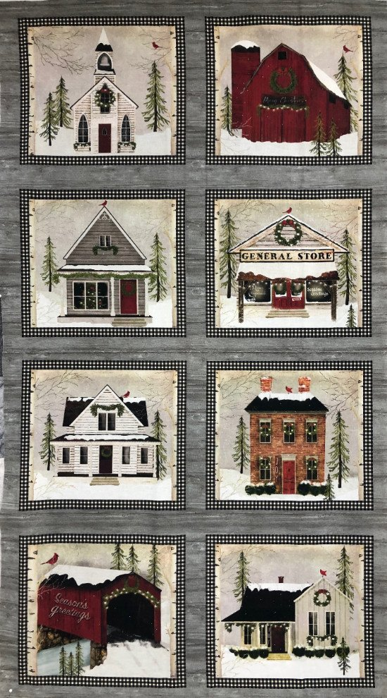 Snow Village by Beth Albert for Benartex