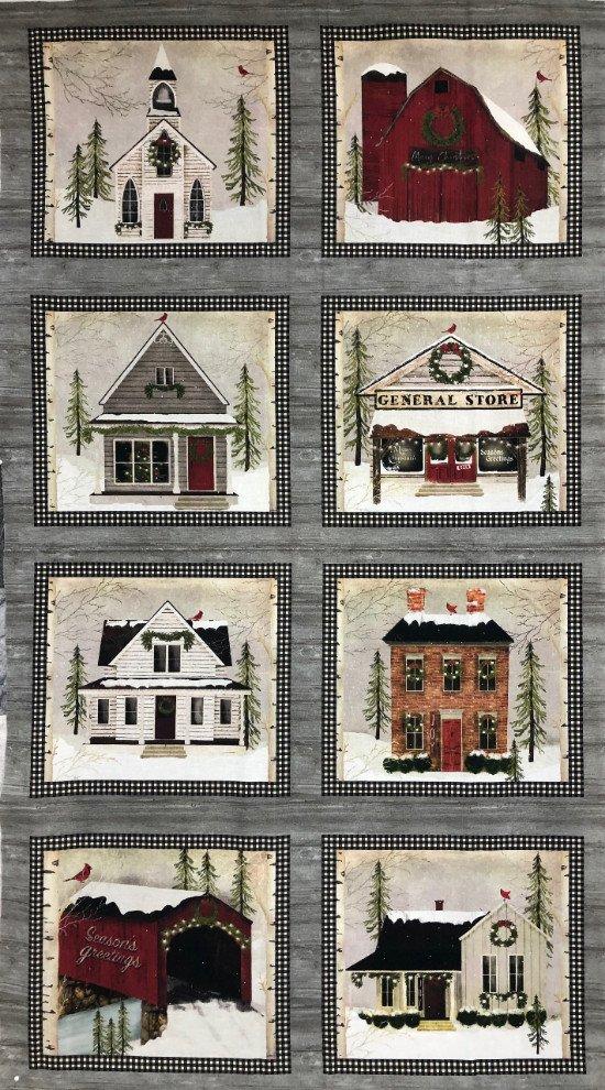 Snow Village by Beth Albert for Benartex