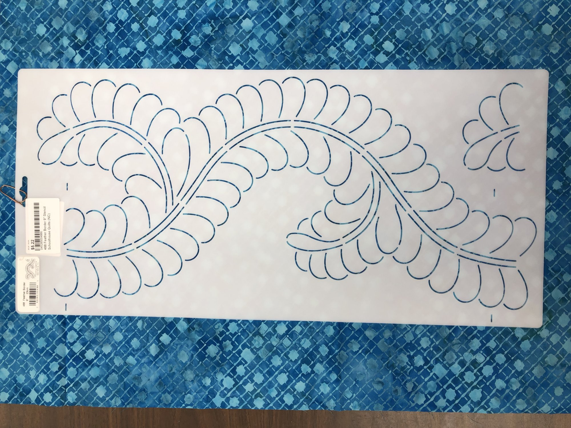 488 Feather Border 9 Stencil