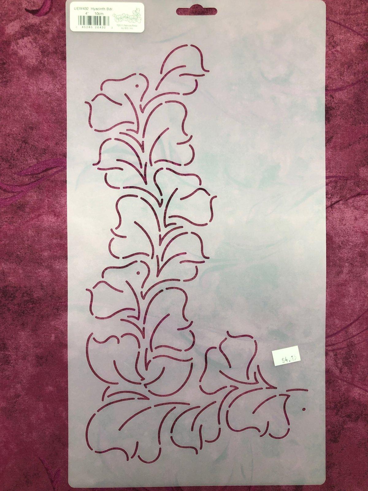 UEW432 Hyacinth Bdr. 4 Inch Stencil
