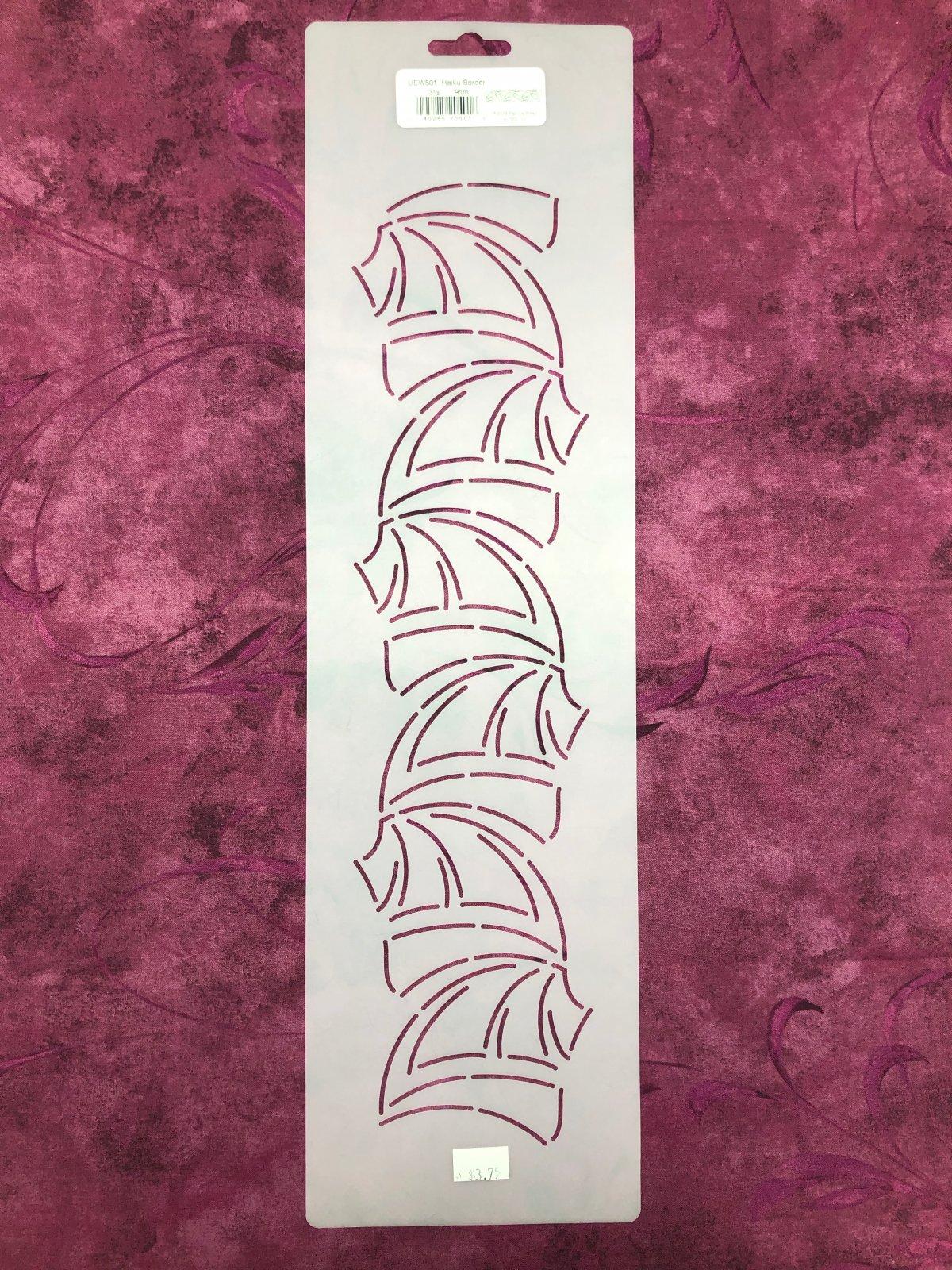 UEW501 Haiku Border 3 1/2 Inch Stencil