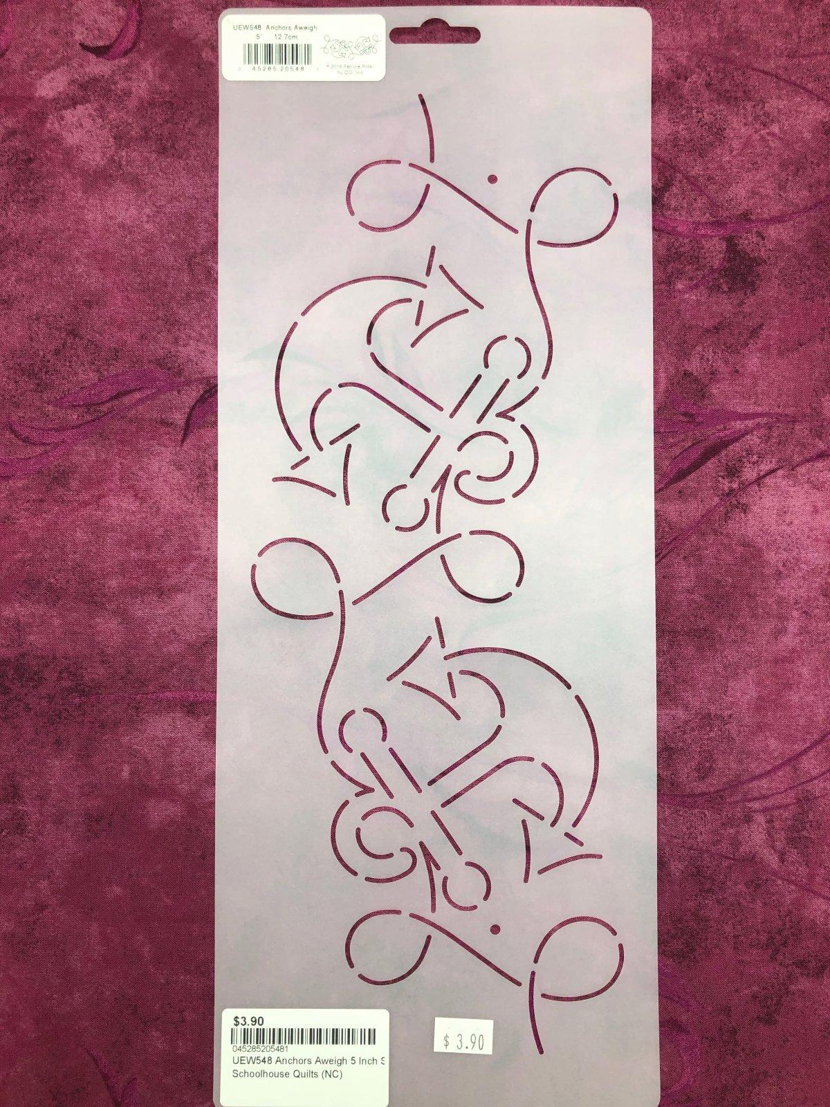 UEW548 Anchors Aweigh 5 Inch Stencil
