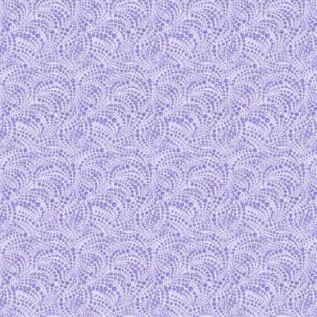 Cat-i-tude 3 Singing the Blues Beaded Swirls Purple Fabric by the Yard