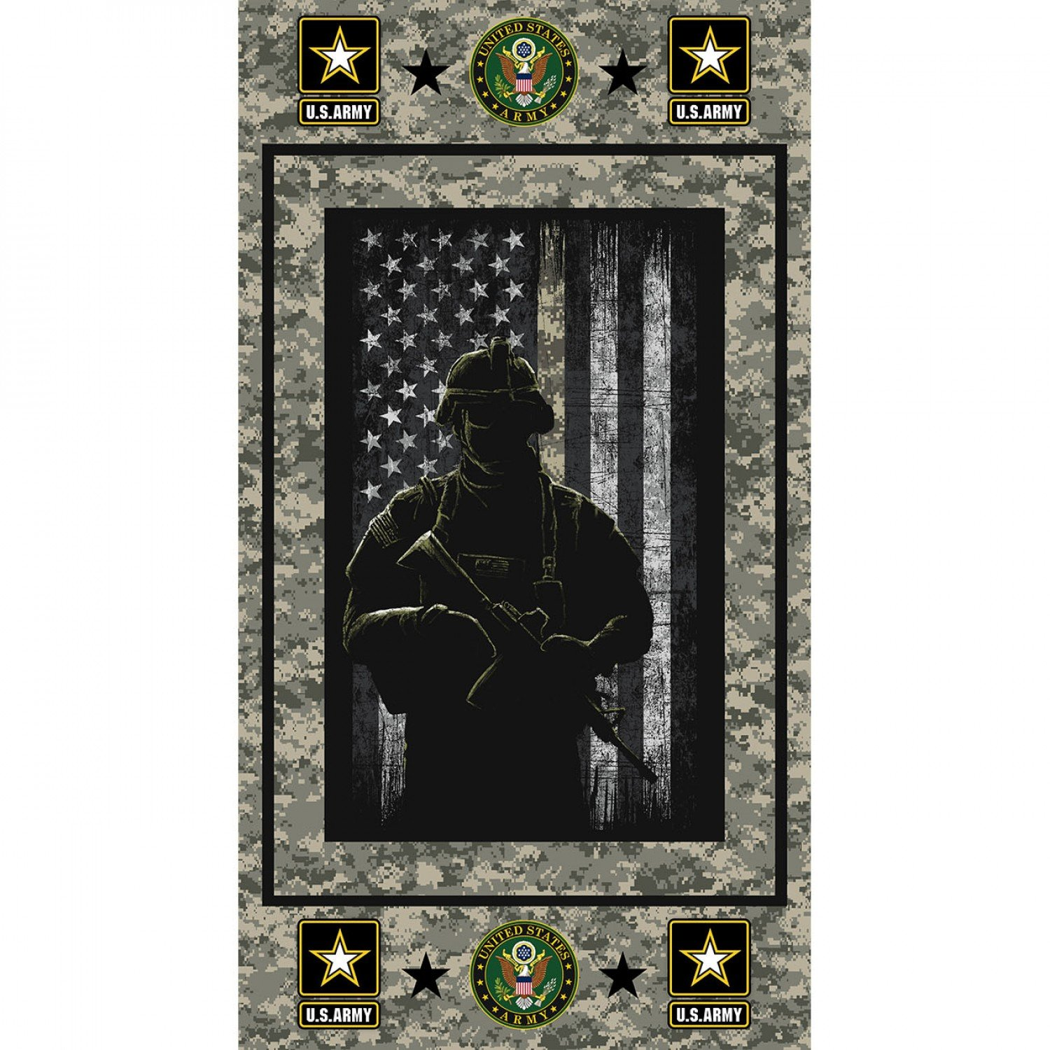 Army Panel 22in x 44in
