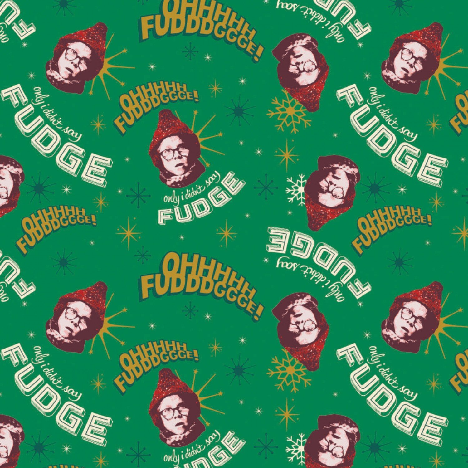 Character Winter Holiday 2  A Christmas Story Oh Fudge Fabric by the Yard