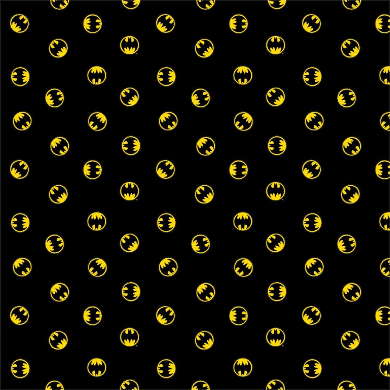 Batman Logo in Black Fabric by the Yard