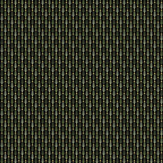 Mistletoe Christmas Fabric / Winterscape