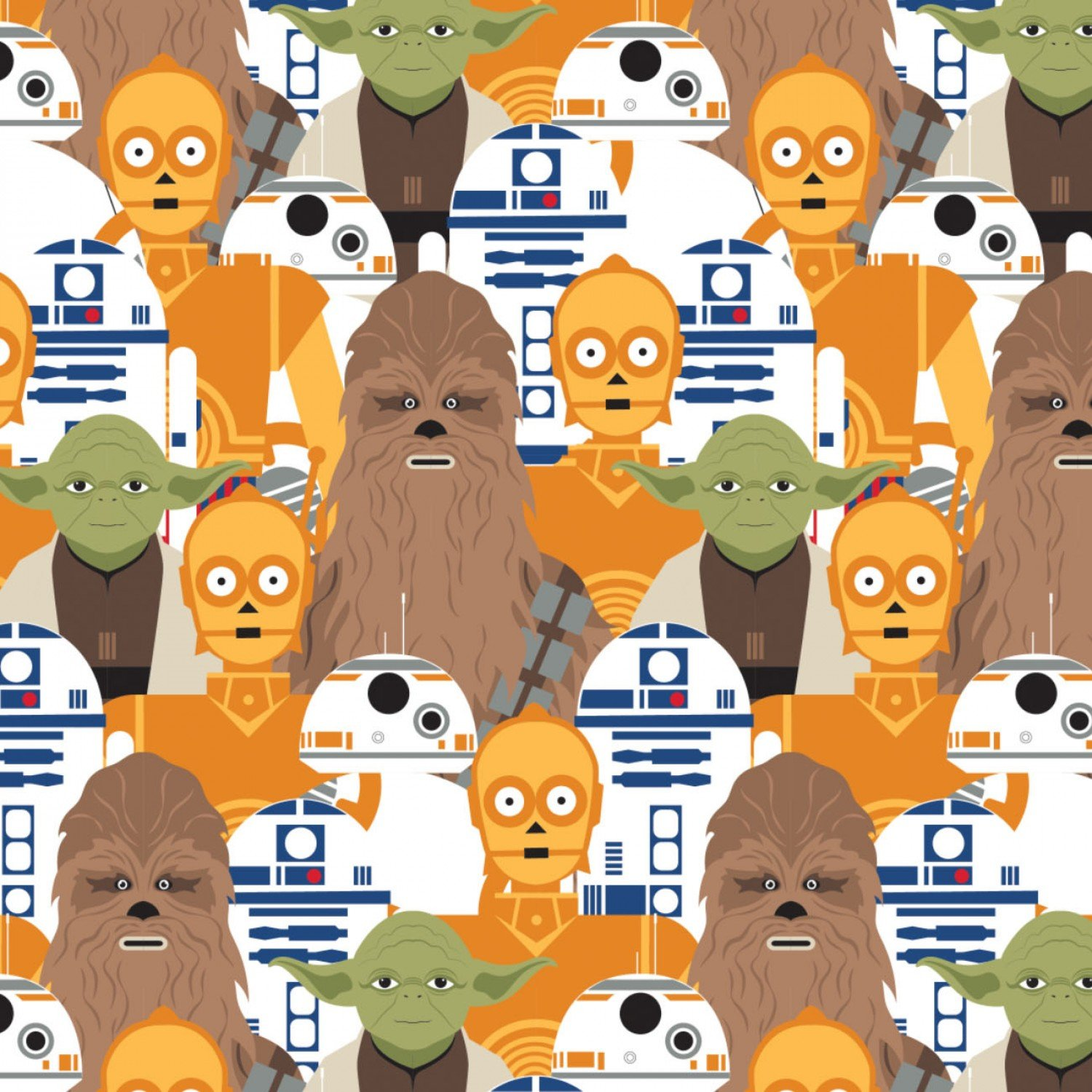 Star Wars Packed Characters Fabric by the Yard