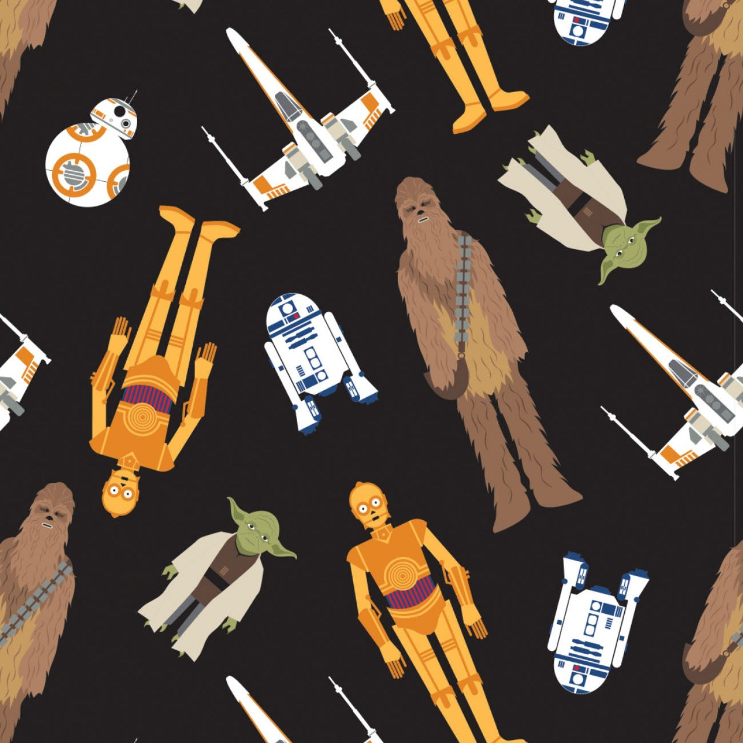 Star Wars Character Toss Fabric by the Yard