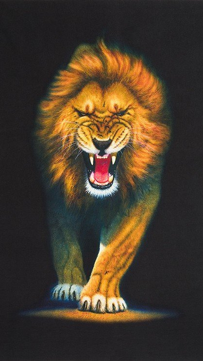 Animal Kingdom Snarling Lion 24 x 44