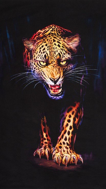Animal Kingdom Snarling Leopard 24 x 44