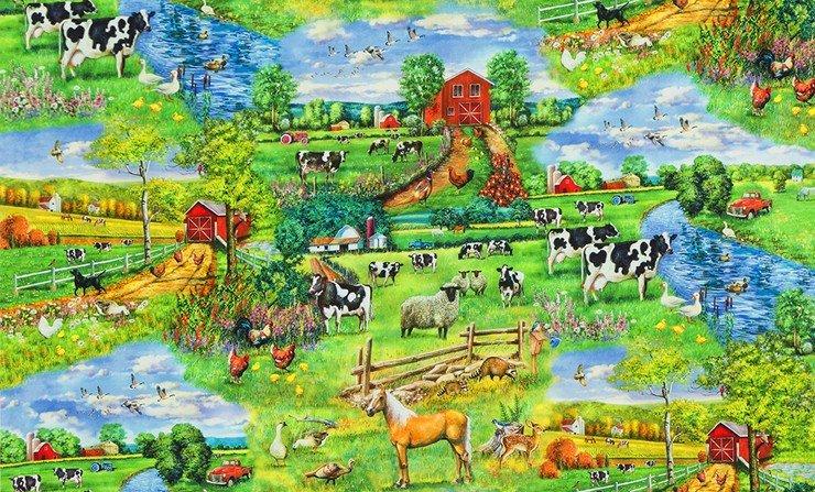 Down on the Farm  Farm vignettes Fabric by the yard