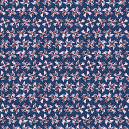 Land of Liberty Pinwheels on Navy Fabric by the yard