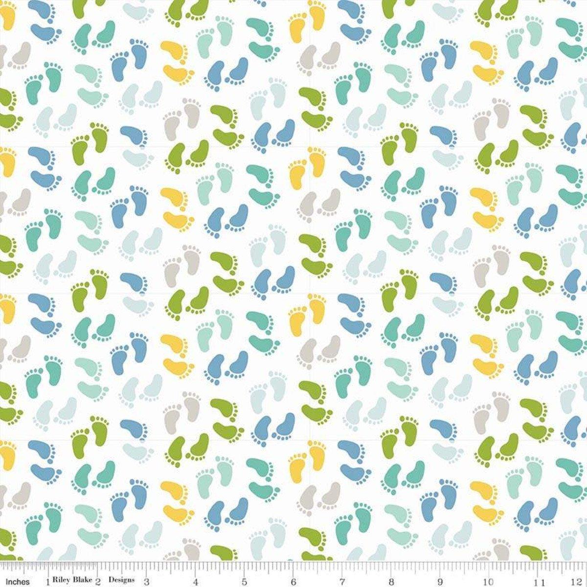 Sweet Baby Boy Words Blue Fabric by Riley Blake C7954-Blue - copy