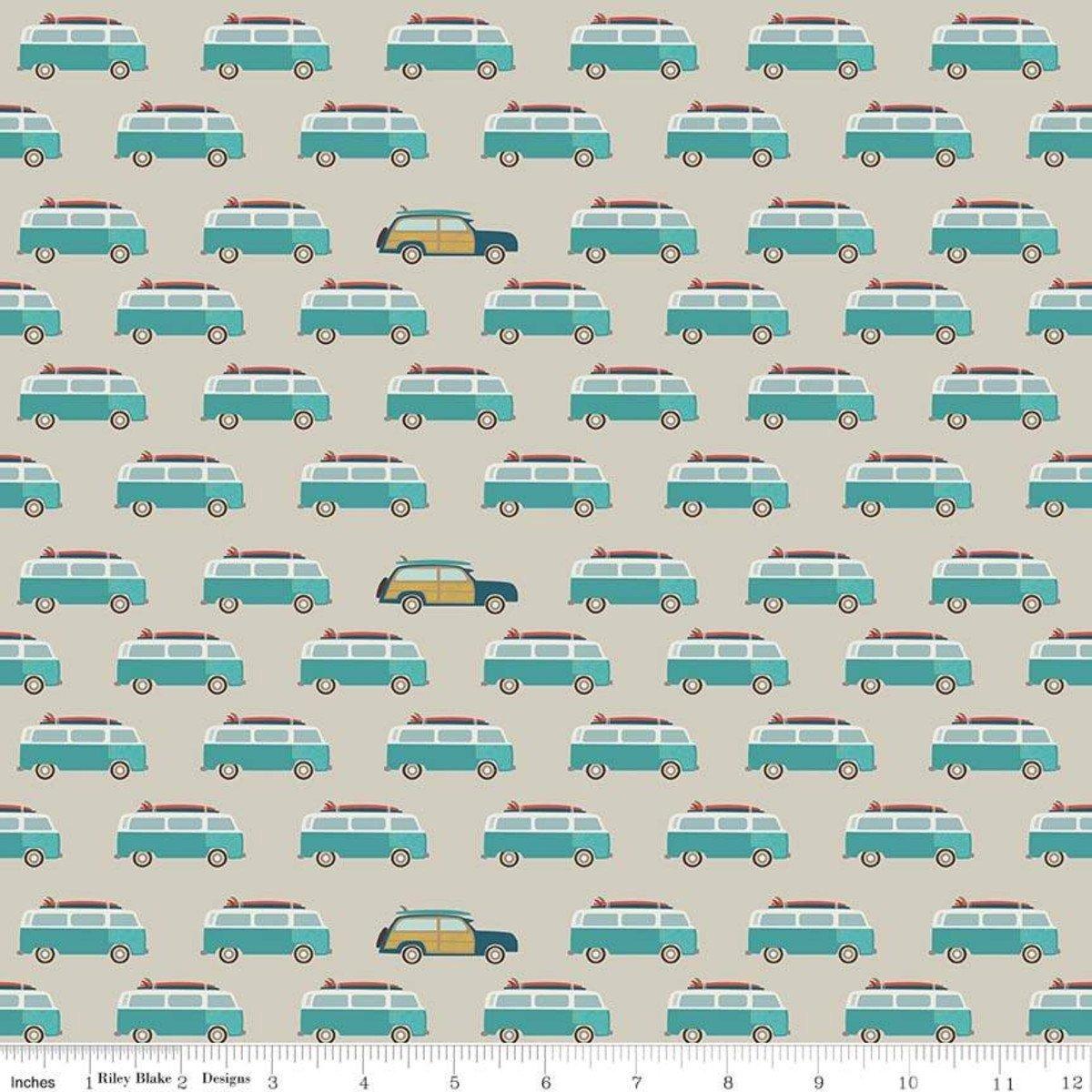 Offshore 2 Wagon Tan Fabric by Riley Blake C7983-TAN