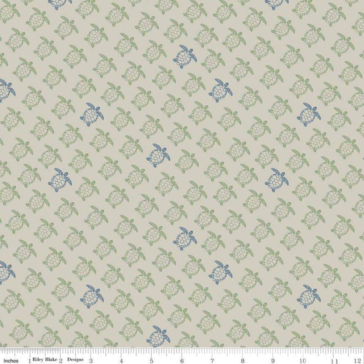 Offshore 2 Turtle Tan Fabric by Riley Blake C7985-TAN
