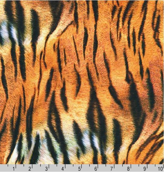 Animal Kingdom Tiger Skin Fabric by the Yard
