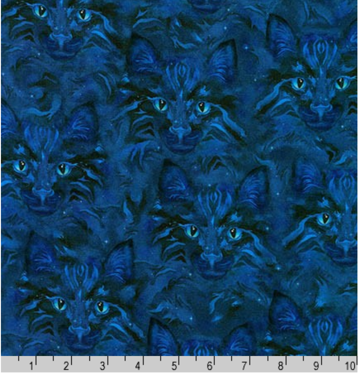 Be Pawsitive on  MIDNIGHT Fabric by the Yard